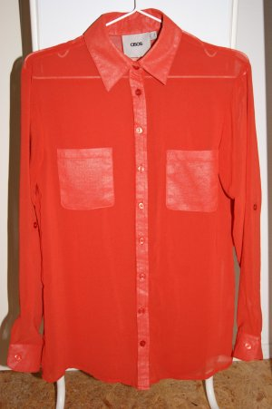 Edle Rote Hemd-Bluse