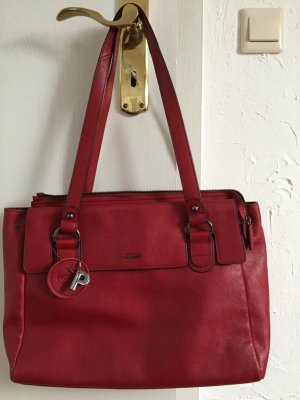 Edle, rote Picard Business Tasche / Aktentasche aus echtem Leder