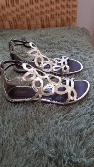 Strapped Sandals silver-colored