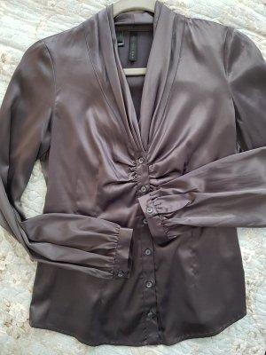 Mango Glanzende blouse grijs