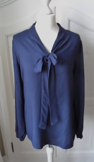 Esmara by Heidi Klum Tie-neck Blouse dark blue viscose