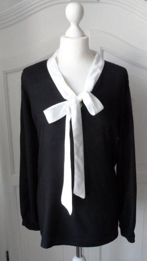 Esmara by Heidi Klum Tie-neck Blouse black-white viscose
