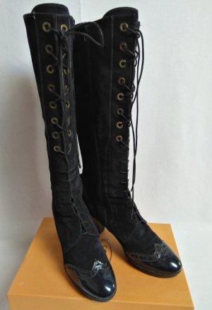 Hispanitas Aanrijg laarzen donkerblauw Leer