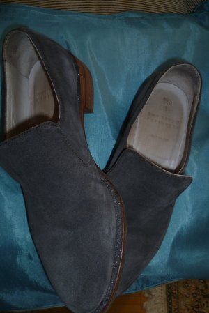 Brunello Cucinelli Slip-on Shoes grey leather