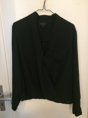 Edle schwarze Bluse von Topshop