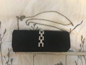 Edle schwarze Clutch / Umhängetasche mit Strass