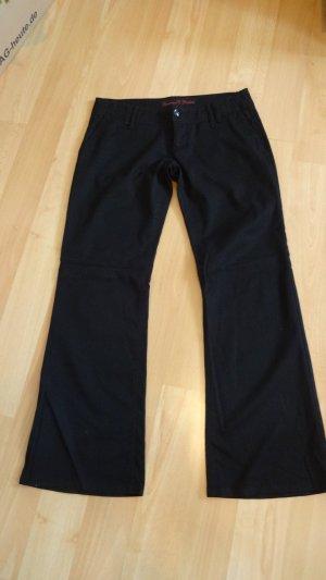 edle schwarze Stoffhose von Freeman T. Porter