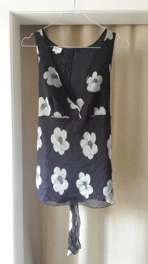 Armani Collezioni Mouwloze blouse veelkleurig Zijde
