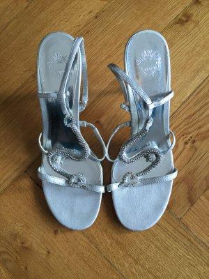 Edle silberne Sandalen von Graceland