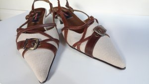 Graceland Strapped High-Heeled Sandals cream-brown