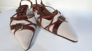 edle Slingback Sandalen mit Spitze
