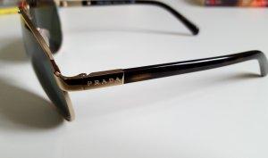 Edle Sonnenbrille/ Pilotenbrille/ Prada Aviator Gold SPR 670