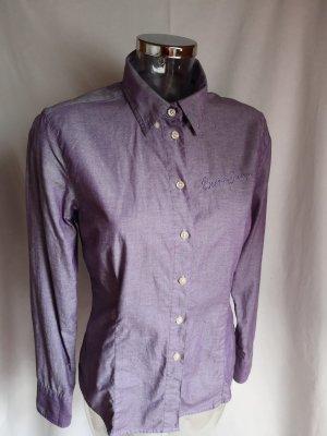 edle sportliche Bluse mit feinem Glanz! neuwertig!