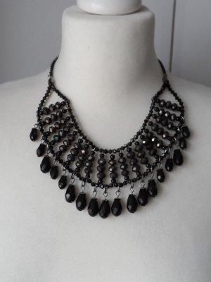 Collar estilo collier negro vidrio