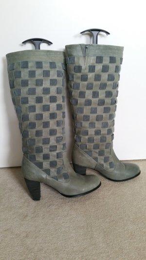 Pieces Heel Boots light grey-grey