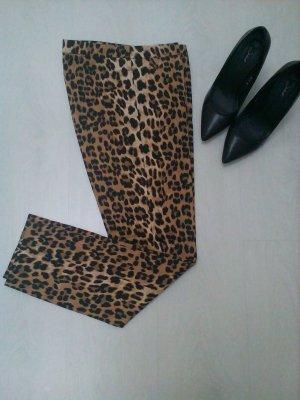 Edle Stoffhose im Leopardenmuster