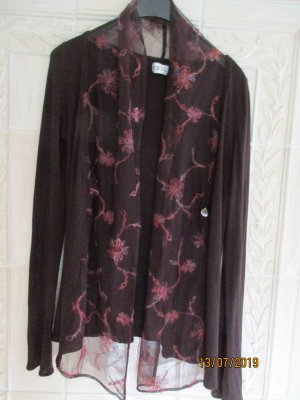 Long Knitted Vest purple-carmine cotton