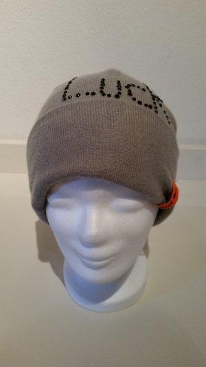 edle, stylische Kashmir-Mütze mit Glitz