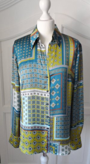 edle TAIFUN Bluse Gr. 40 Seide Krawattenmuster Bunt wenig getragen