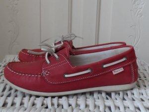 edle TAMARIS Leder Schuhe Gr. 39 rot nur wenig getragen
