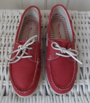 Tamaris Sailing Shoes red leather