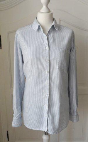 Tommy Hilfiger Long Sleeve Blouse azure-white cotton