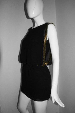 Rich & Royal Tunic Dress black-gold-colored polyamide
