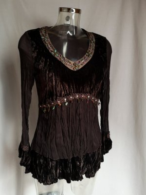 Tunic dark brown-black brown
