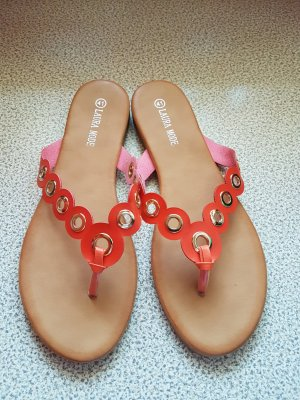 Laura Toe-Post sandals gold-colored-salmon