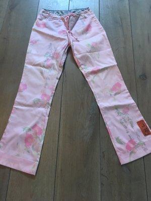 Jet Set pantalón de cintura baja color rosa dorado-rosa empolvado