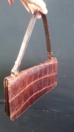 Edle Vintage Krokoleder Handtasche