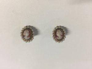 Edle Vintage Ohrclips Gemmen aus Silber