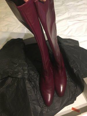 Edle Vintage Stiefel von Peter Kaiser Bordeauxrot Größe 7