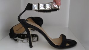 Walter Steiger High Heel Sandal black-silver-colored