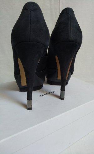 edle Wildleder Plateau high heels