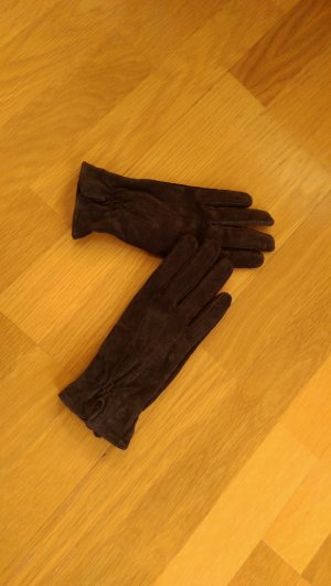 Esmara Leather Gloves brown suede