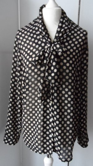 Yorn Blusa con lazo negro-beige Poliéster
