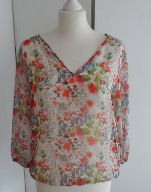 Zara Blusa de túnica multicolor Poliéster