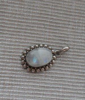 edler Anhänger 925 Silber und einem blau schimmernden Mondstein wenig getragen