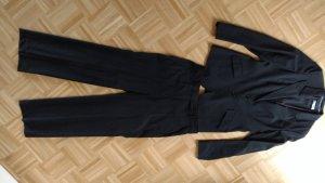 René Lezard Costume business bleu foncé laine vierge