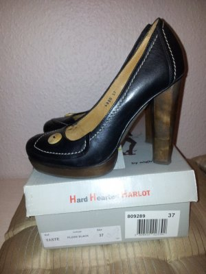 Harlot High Heels black leather