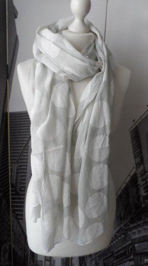 Sciarpa grigio chiaro-bianco Cotone