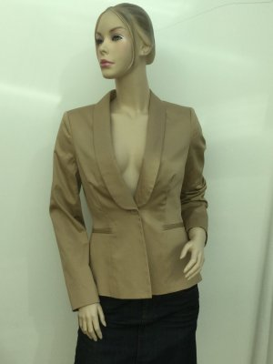 Stefanel Tuxedo Blazer sand brown cotton