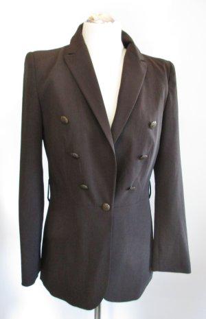 Edler Blazer Jacke 123 Paris Größe M 38 Braun Dunkelbraun Militäry Longblazer Büro Business Frack