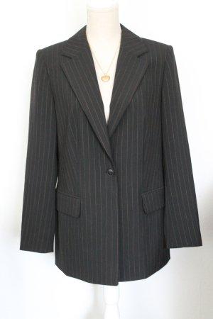 Alba Moda Blazer de lana negro-coñac