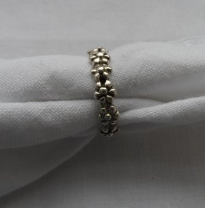 edler Blumen Ring Gr. 57 aus 925 Silber wenig getragen