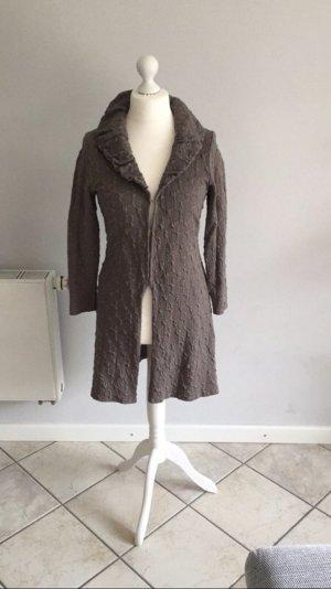 Boysen's Cardigan en crochet gris brun