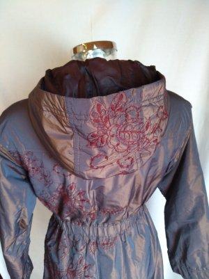 Beate Heymann Abrigo de invierno color bronce-violeta amarronado