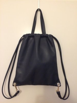 Edler dunkelblauer Flatpack, Tote, Turnbeutel von Zara
