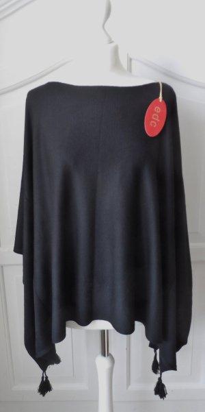 edc by Esprit Poncho in maglia nero Tessuto misto